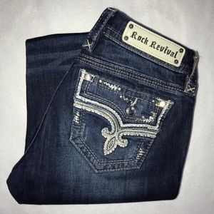 Rock Revival Betty Embellished Bootcut Jeans 28 33